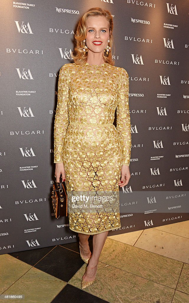 <a gi-track='captionPersonalityLinkClicked' href=/galleries/search?phrase=Eva+Herzigova&family=editorial&specificpeople=156428 ng-click='$event.stopPropagation()'>Eva Herzigova</a> attends a private dinner celebrating the Victoria and Albert Museum's new exhibition 'The Glamour Of Italian Fashion 1945 - 2014' at Victoria and Albert Museum on April 1, 2014 in London, England.
