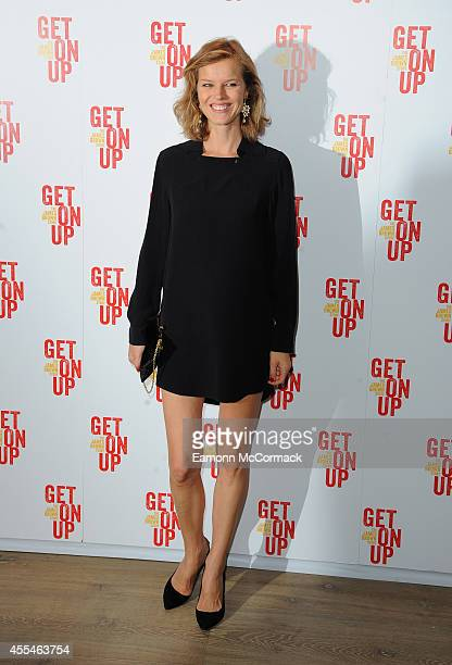 Eva Herzigova attends a special screening of 'Get On Up' on September 14 2014 in London England