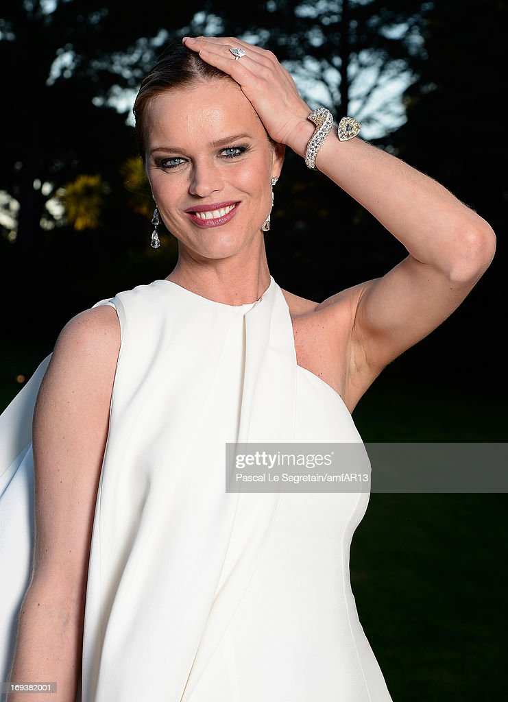 <a gi-track='captionPersonalityLinkClicked' href=/galleries/search?phrase=Eva+Herzigova&family=editorial&specificpeople=156428 ng-click='$event.stopPropagation()'>Eva Herzigova</a> attends amfAR's 20th Annual Cinema Against AIDS during The 66th Annual Cannes Film Festival at Hotel du Cap-Eden-Roc on May 23, 2013 in Cap d'Antibes, France.