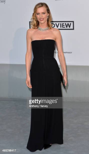 Eva Herzigova attends amfAR's 21st Cinema Against AIDS Gala Presented By WORLDVIEW BOLD FILMS And BVLGARI at the 67th Annual Cannes Film Festival on...
