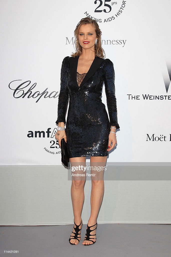 Eva Herzigova attends amfAR's Cinema Against AIDS Gala during the 64th Annual Cannes Film Festival at Hotel Du Cap on May 19, 2011 in Antibes, France.