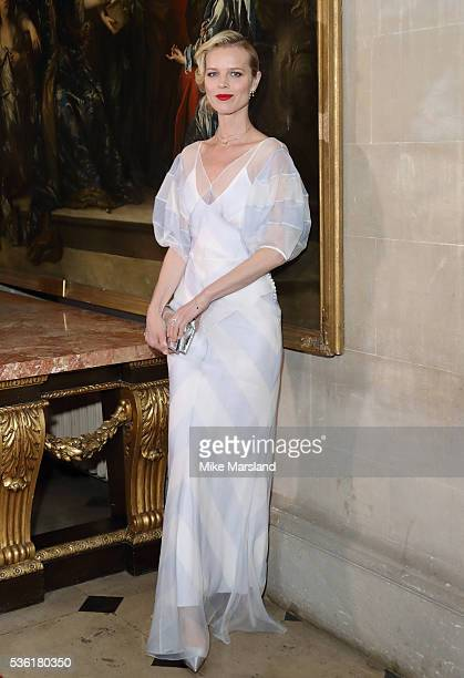 Eva Herzigova attends as Christian Dior showcases its spring summer 2017 cruise collection at Blenheim Palace on May 31 2016 in Woodstock England