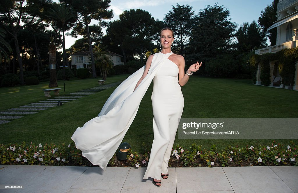 <a gi-track='captionPersonalityLinkClicked' href=/galleries/search?phrase=Eva+Herzigova&family=editorial&specificpeople=156428 ng-click='$event.stopPropagation()'>Eva Herzigova</a> attends at the cocktail party for amfAR's 20th Annual Cinema Against AIDS at Hotel du Cap-Eden-Roc on May 23, 2013 in Cap d'Antibes, France.