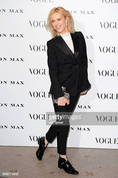 Eva Herzigova attends at Vogue 100 A Century Of Style at the National Portrait Gallery on February 9 2016 in London England