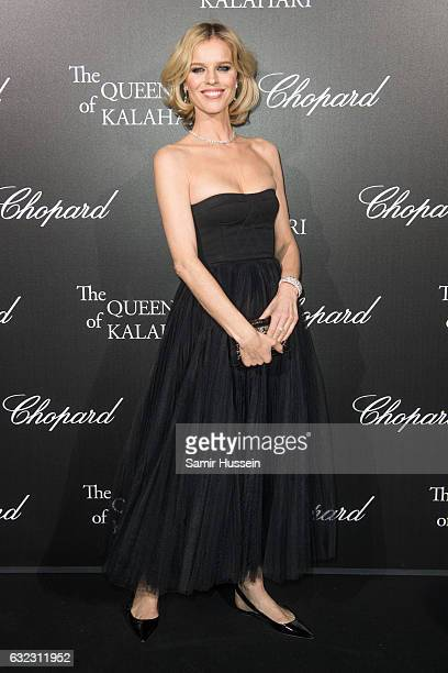 Eva Herzigova attends Chopard presenting The Garden of Kalahari at Theatre du Chatelet on January 21 2017 in Paris France