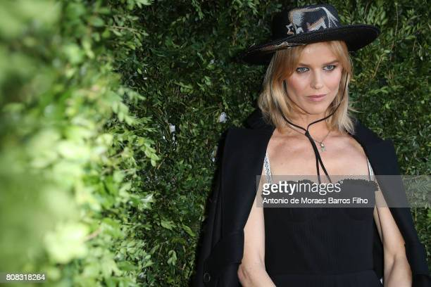 Eva Herzigova attends 'Christian Dior couturier du reve' Exhibition Launch celebrating 70 years of creation at Musee Des Arts Decoratifs on July 3...