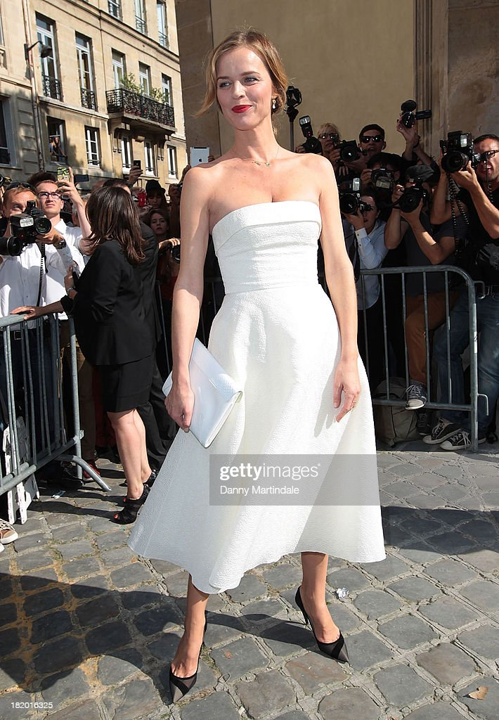 Eva Herzigova attends Christian Dior show at the Musee Rodin on September 27, 2013 in Paris, France.