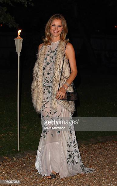 Eva Herzigova attends fundraising event in aid of Raisa Gorbachev Foundation at Hampton Court Palace on September 22 2011 in London England