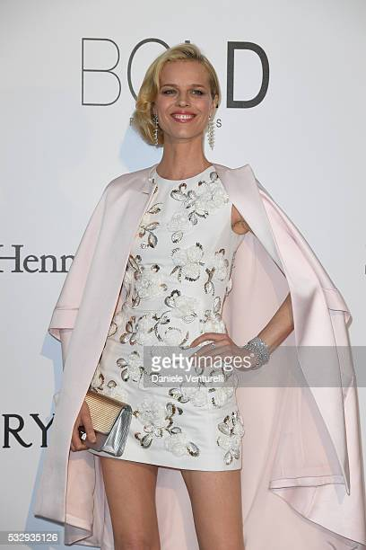 Eva Herzigova attends the amfAR's 23rd Cinema Against AIDS Gala at Hotel du CapEdenRoc on May 19 2016 in Cap d'Antibes