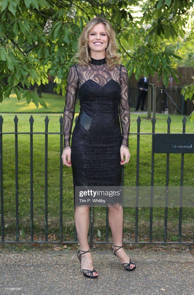 Eva Herzigova attends the annual Serpentine Gallery summer party at The Serpentine Gallery on June 26, 2013 in London, England.