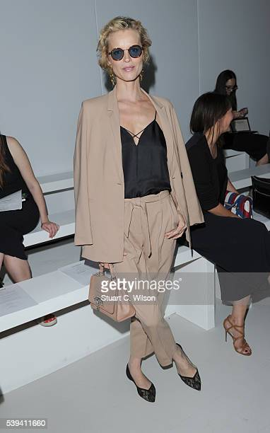 Eva Herzigova attends the Casely Hayford show during The London Collections Men SS17 at on June 11 2016 in London England