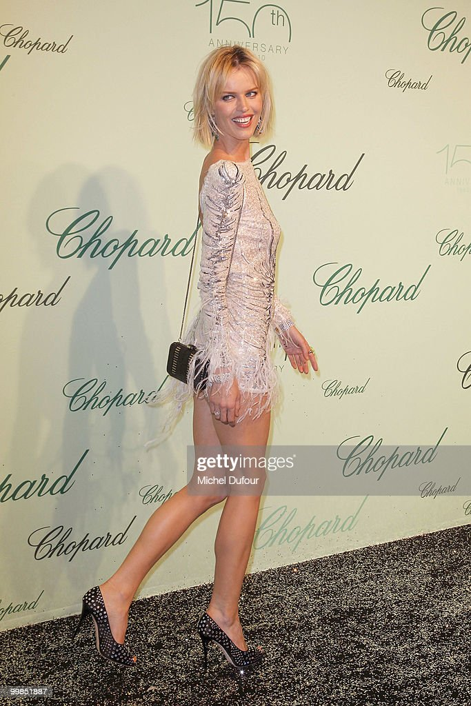 Eva Herzigova attends the Chopard 150th Anniversary Party at Palm Beach, Pointe Croisette during the 63rd Annual Cannes Film Festival on May 17, 2010 in Cannes, France.