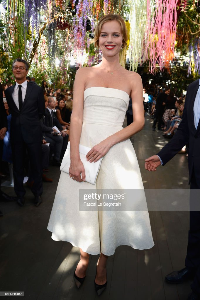 <a gi-track='captionPersonalityLinkClicked' href=/galleries/search?phrase=Eva+Herzigova&family=editorial&specificpeople=156428 ng-click='$event.stopPropagation()'>Eva Herzigova</a> attends the Christian Dior show as part of the Paris Fashion Week Womenswear Spring/Summer 2014 at Musee Rodin on September 27, 2013 in Paris, France.