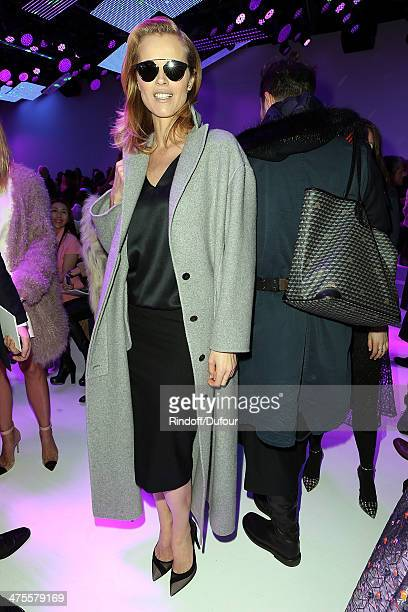 Eva Herzigova attends the Christian Dior show as part of the Paris Fashion Week Womenswear Fall/Winter 20142015 on February 28 2014 in Paris France