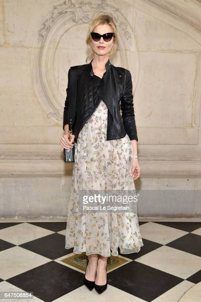 Eva Herzigova attends the Christian Dior show as part of the Paris Fashion Week Womenswear Fall/Winter 2017/2018 at Musee Rodin on March 3 2017 in...
