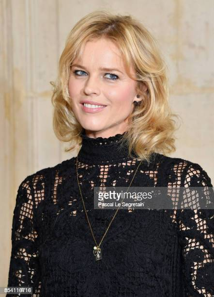 Eva Herzigova attends the Christian Dior show as part of the Paris Fashion Week Womenswear Spring/Summer 2018 on September 26 2017 in Paris France