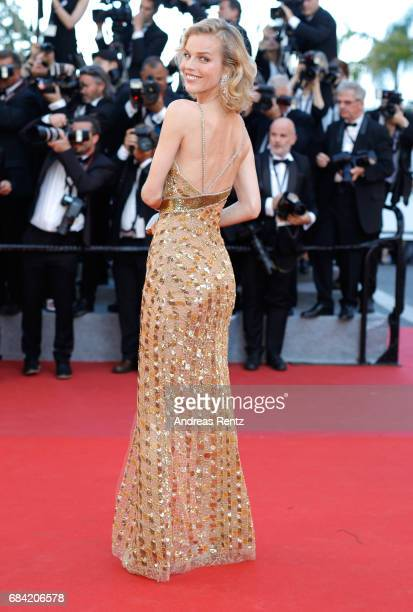 Eva Herzigova attends the 'Ismael's Ghosts ' screening and Opening Gala during the 70th annual Cannes Film Festival at Palais des Festivals on May 17...