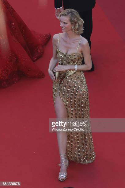 Eva Herzigova attends the 'Ismael's Ghosts ' screening and Opening Gala during the Opening Ceremony of the 70th annual Cannes Film Festival at Palais...