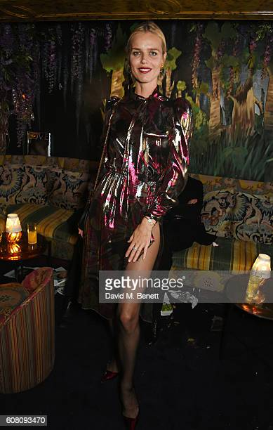 Eva Herzigova attends the LOVE Magazine and Marc Jacobs LFW Party to celebrate LOVE 165 collector's issue of LOVE and Berlin 1989 at Loulou's on...