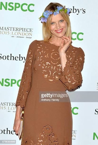 Eva Herzigova attends the NSPCC NeoRomantic Art Gala at Masterpiece London on June 30 2015 in London England