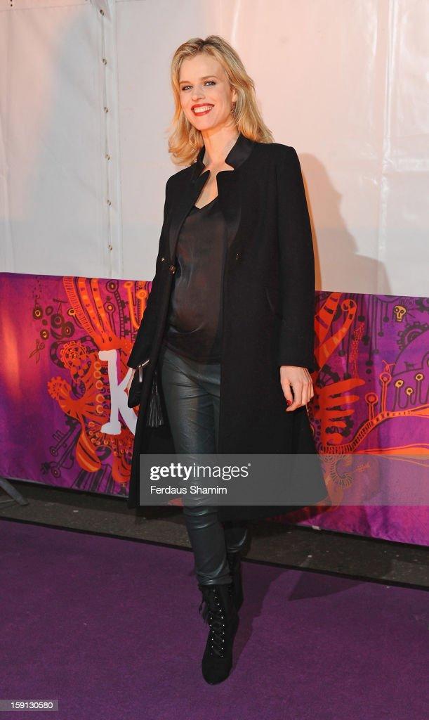 Eva Herzigova attends the opening night of Cirque Du Soleil's Kooza at Royal Albert Hall on January 8, 2013 in London, England.