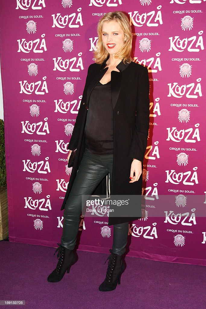 Eva Herzigova attends the opening night of Cirque Du Soleil's 'Kooza' at Royal Albert Hall on January 8, 2013 in London, England.