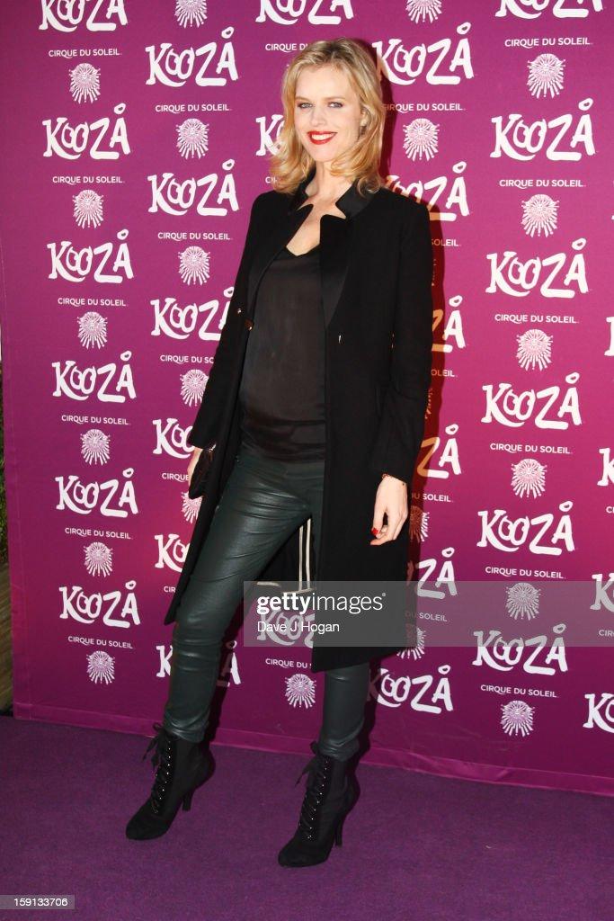 Eva Herzigova attends the opening night of Cirque Du Soleil's 'Kooza' at Royal Albert Hall on January 8, 2013 in London, England.
