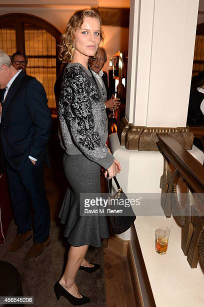 Eva Herzigova attends the opening party of The Club at Hotel Cafe Royal on October 2 2014 in London England