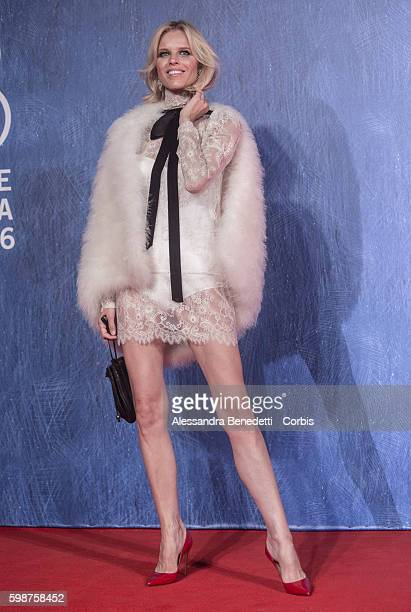 Eva Herzigova attends the premiere of FRANCA Chaos and Creation during the 73rd Venice Film Festival on September 2 2016 in Venice Italy