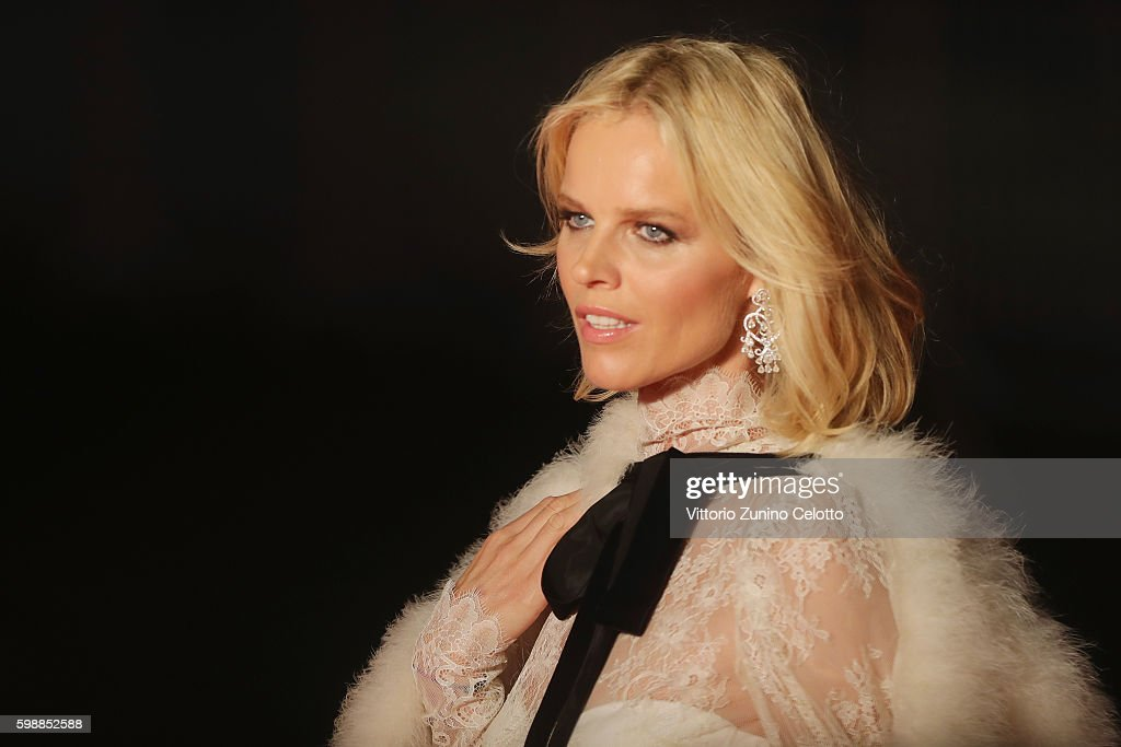 Eva Herzigova attends the premiere of 'Franca: Chaos And Creation' during the 73rd Venice Film Festival at Sala Giardino on September 2, 2016 in Venice, Italy.