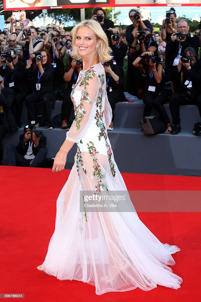Eva Herzigova attends the premiere of 'Nocturnal Animals' during the 73rd Venice Film Festival at Sala Grande on September 2, 2016 in Venice, Italy.