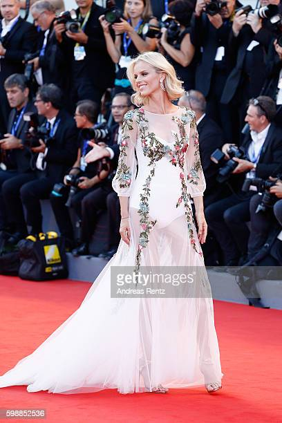 Eva Herzigova attends the premiere of 'Nocturnal Animals' during the 73rd Venice Film Festival at Sala Grande on September 2 2016 in Venice Italy