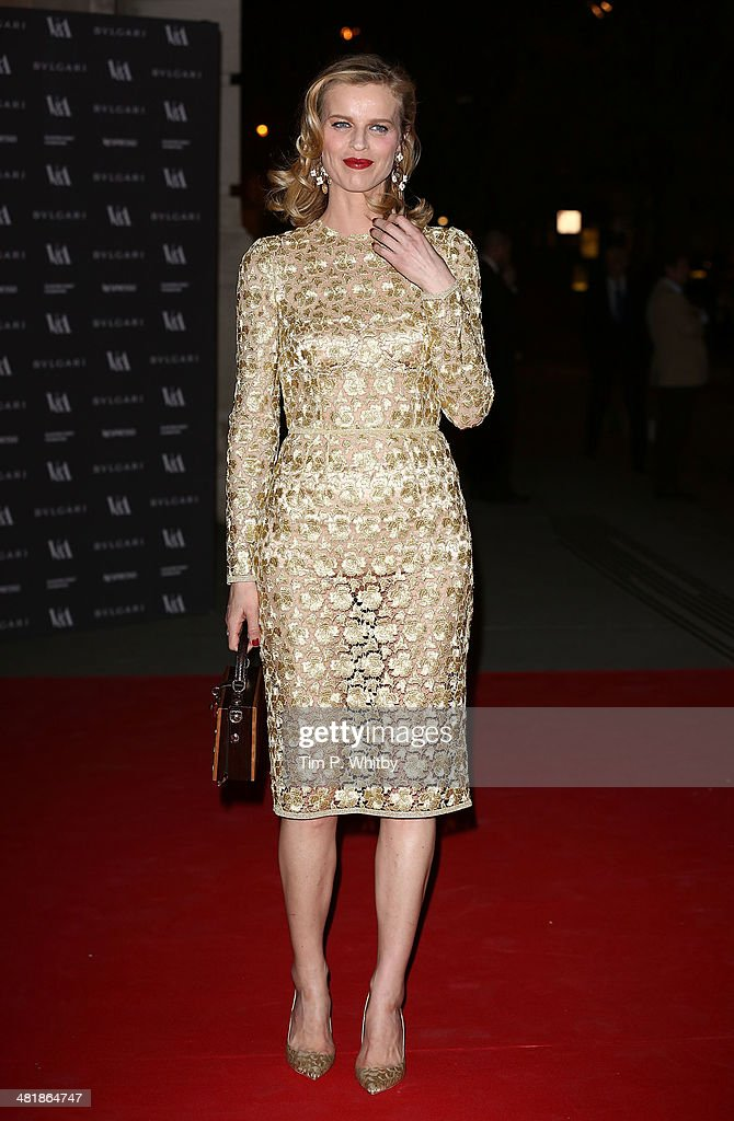 <a gi-track='captionPersonalityLinkClicked' href=/galleries/search?phrase=Eva+Herzigova&family=editorial&specificpeople=156428 ng-click='$event.stopPropagation()'>Eva Herzigova</a> attends the preview of The Glamour of Italian Fashion exhibition at Victoria & Albert Museum on April 1, 2014 in London, England.