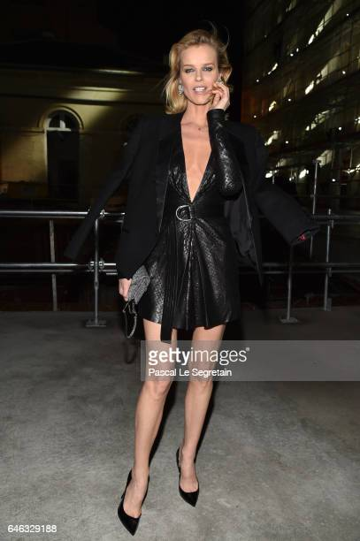 Eva Herzigova attends the Saint Laurent show as part of the Paris Fashion Week Womenswear Fall/Winter 2017/2018 on February 28 2017 in Paris France