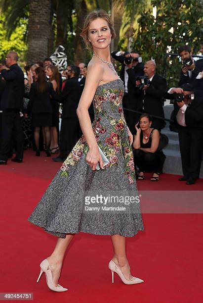 Eva Herzigova attends the 'Two Days One Night' Premiere at the 67th Annual Cannes Film Festival on May 20 2014 in Cannes France