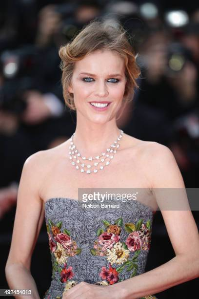 Eva Herzigova attends the 'Two Days One Night' premiere during the 67th Annual Cannes Film Festival on May 20 2014 in Cannes France