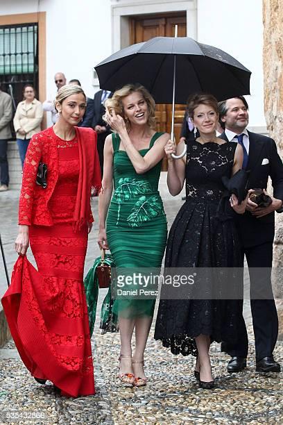 Eva Herzigova attends the wedding of Lady Charlotte Wellesley and Alejandro Santo Domingo at Illora on May 28 2016 in Granada Spain