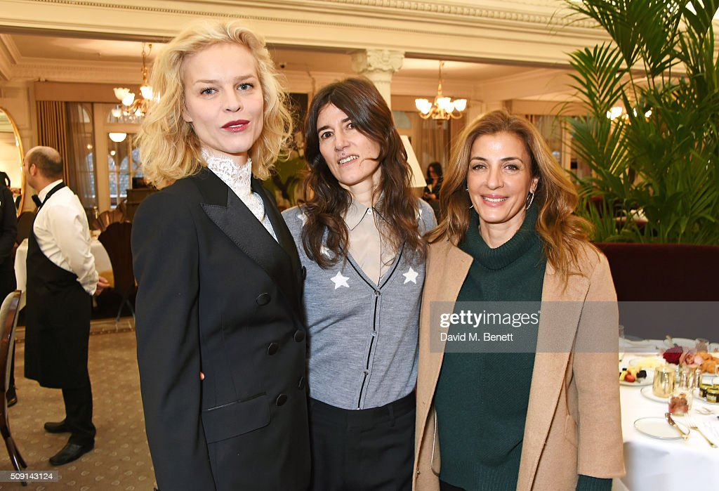 <a gi-track='captionPersonalityLinkClicked' href=/galleries/search?phrase=Eva+Herzigova&family=editorial&specificpeople=156428 ng-click='$event.stopPropagation()'>Eva Herzigova</a>, Bella Freud and Sawsan Asfari attend the Hoping Breakfast for Palestinian refugee children at Harrods on February 9, 2016 in London, England.