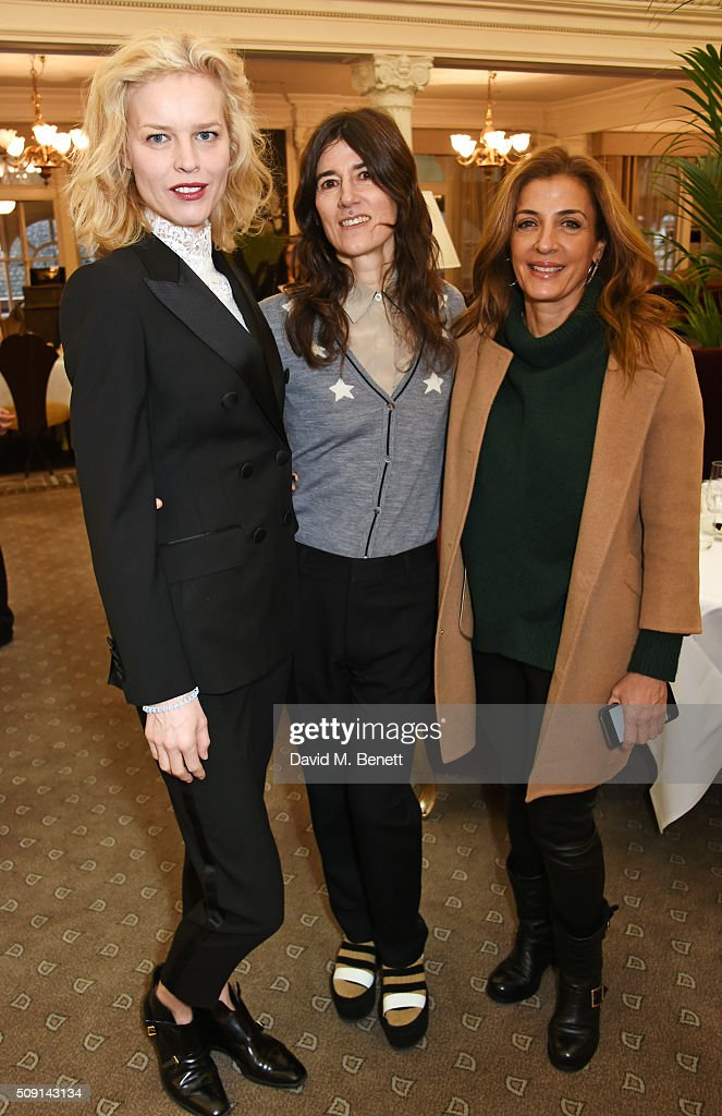 Eva Herzigova, Bella Freud and Sawsan Asfari attend the Hoping Breakfast for Palestinian refugee children at Harrods on February 9, 2016 in London, England.