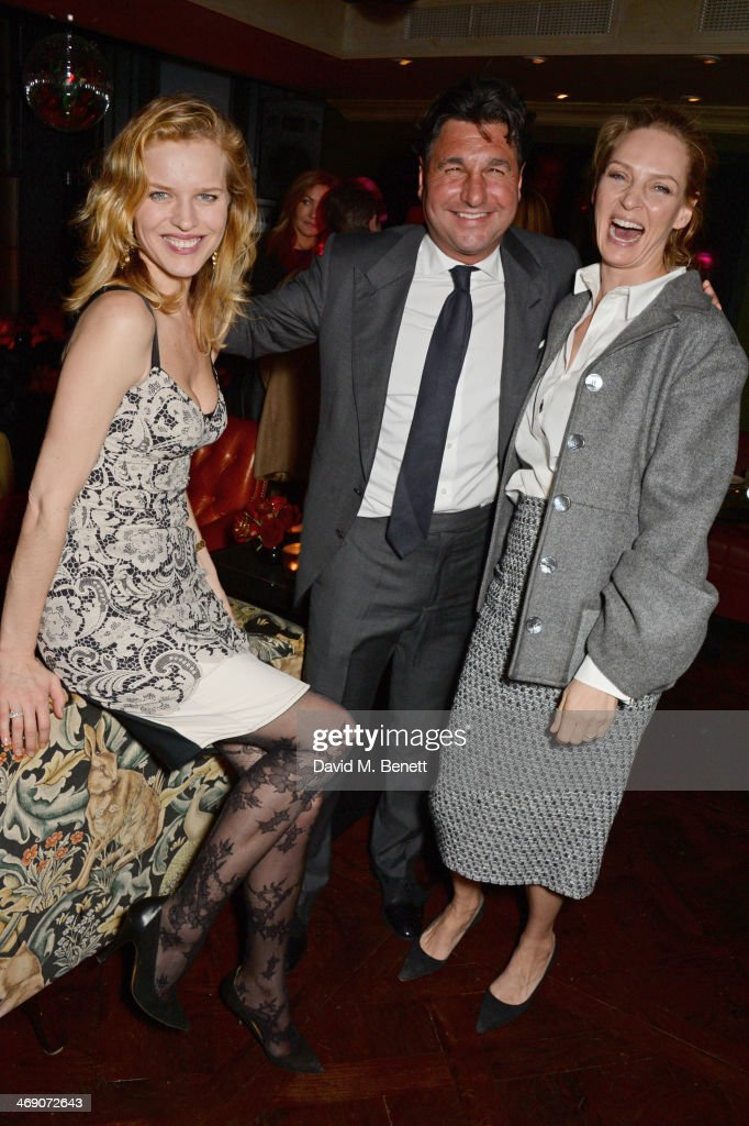 <a gi-track='captionPersonalityLinkClicked' href=/galleries/search?phrase=Eva+Herzigova&family=editorial&specificpeople=156428 ng-click='$event.stopPropagation()'>Eva Herzigova</a>, <a gi-track='captionPersonalityLinkClicked' href=/galleries/search?phrase=Giorgio+Veroni&family=editorial&specificpeople=570237 ng-click='$event.stopPropagation()'>Giorgio Veroni</a> and <a gi-track='captionPersonalityLinkClicked' href=/galleries/search?phrase=Uma+Thurman&family=editorial&specificpeople=171973 ng-click='$event.stopPropagation()'>Uma Thurman</a> attend <a gi-track='captionPersonalityLinkClicked' href=/galleries/search?phrase=Giorgio+Veroni&family=editorial&specificpeople=570237 ng-click='$event.stopPropagation()'>Giorgio Veroni</a>'s birthday party hosted by his wife Tamara Beckwith at The Rififi Club on February 12, 2014 in London, England.