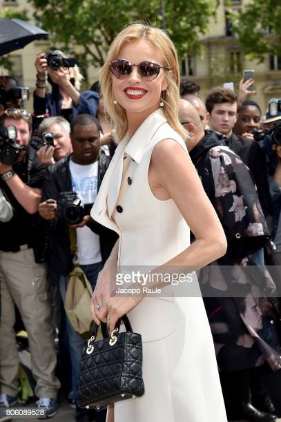 Eva Herzigova is seen arriving at the 'Christian Dior' show during Paris Fashion Week Haute Couture Fall/Winter 20172018 on July 3 2017 in Paris...