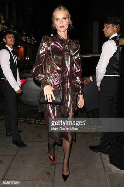 Eva Herzigova is seen at Lou Lou's for the Love Magazine party on Day 4 of London Fashion Week Spring/Summer 2017 on September 19 2016 in London...