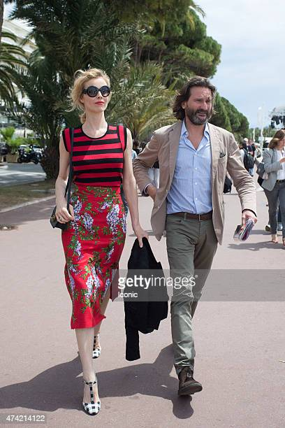 Eva Herzigova is seen during The 68th Annual Cannes Film Festival on May 21 2015 in Cannes France