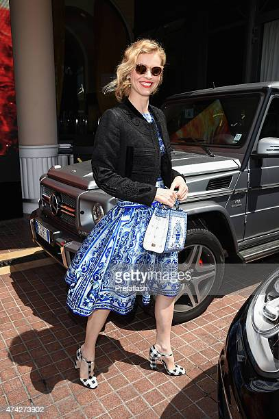 Eva Herzigova is sighted during the 68th annual Cannes Film Festival on May 21 2015 in Cannes France