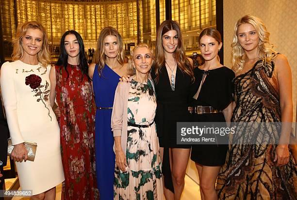 Eva Herzigova Mariacarla Boscono Magosia Bela Franca Sozzani Bianca Brandolini Eugenie Niarchos and Carmen Kass during the VIP Mall Tour at the Vogue...