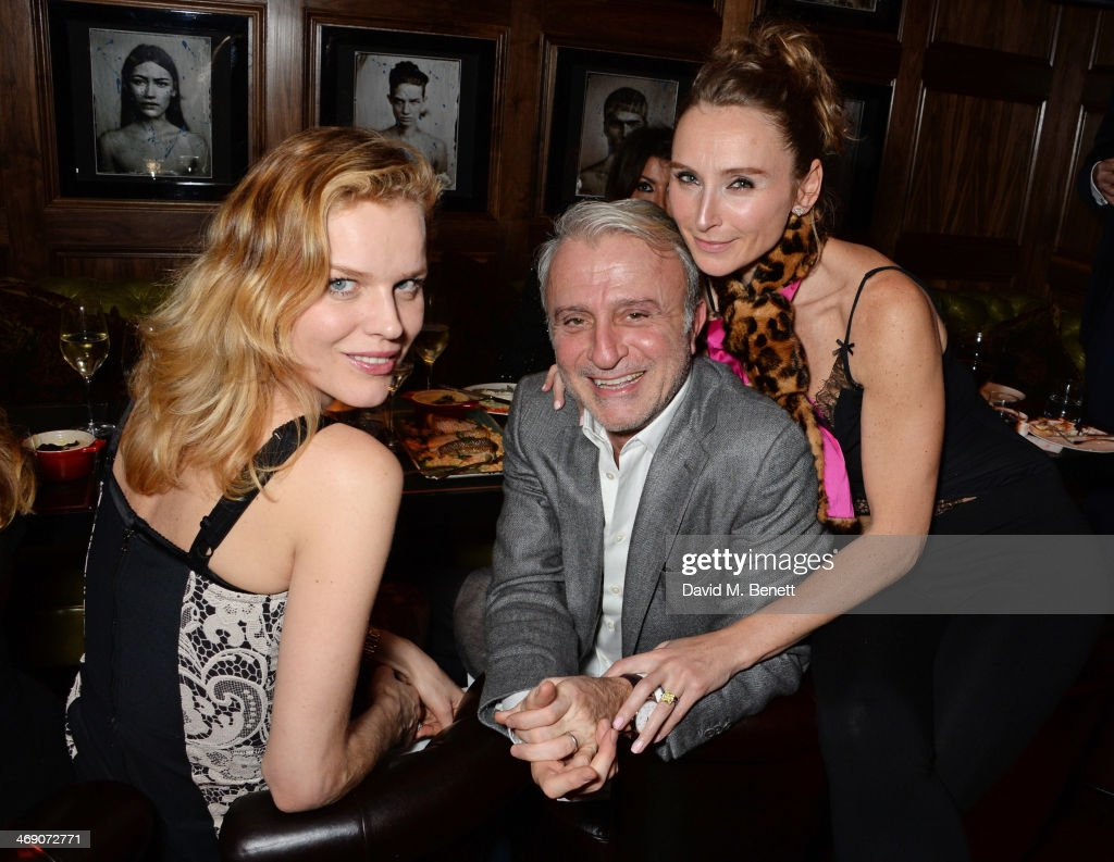 <a gi-track='captionPersonalityLinkClicked' href=/galleries/search?phrase=Eva+Herzigova&family=editorial&specificpeople=156428 ng-click='$event.stopPropagation()'>Eva Herzigova</a>, Raffy Manoukian and Jo Manoukian attend Giorgio Veroni's birthday party hosted by his wife Tamara Beckwith at The Rififi Club on February 12, 2014 in London, England.