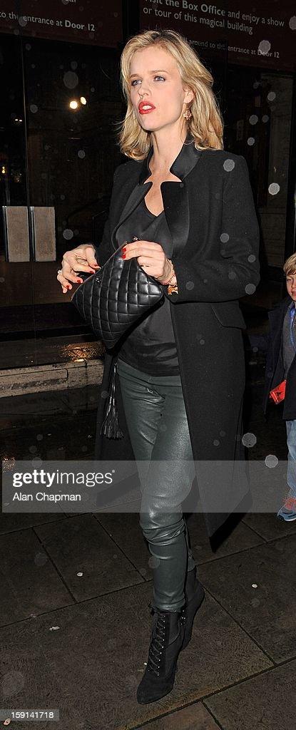 Eva Herzigova sighting at The Royal Albert Hall on January 8, 2013 in London, England.