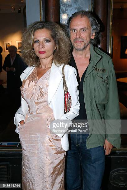 Eva Ionesco and her husband Simon Liberati attend the Private View of 'Francoise Sagan Photographer' Photo Exhibition at Galerie Pierre Passebon on...