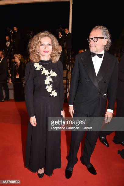 Eva Ionesco and Simon Liberati attend the 'In The Fade ' premiere during the 70th annual Cannes Film Festival at Palais des Festivals on May 26 2017...