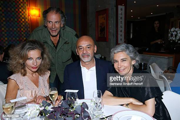 Eva Ionesco her husband Simon Liberati Christian Louboutin and Elisabeth Quin attend the Dinner following the Private View of 'Francoise Sagan...